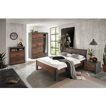 IMV Schlafzimmer Brooklyn Kombi S9 mit Kleiderschrank schwarz/braun
