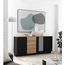 IMV Sideboard Cayman schwarz 181 cm
