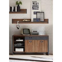 IMV Sideboard Detroit, braun und schwarz