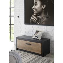 IMV Sitzkommode zur Garderobe Brügge schwarz, kastanie 107 x 43 x 42 cm