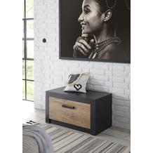 IMV Sitzkommode zur Garderobe Brügge schwarz, kastanie 80 x 43 x 42 cm