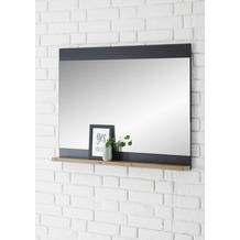IMV Spiegel Brügge schwarz, kastanie 92 x 71 x 10 cm mit Ablage