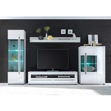 IMV Wohnwand Cantara, weiß 350 x 200cm