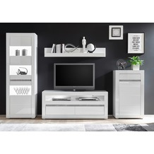 IMV Wohnwand Carat, weiß 302 x 198cm