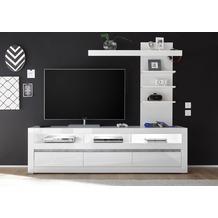 IMV Wohnwand Carat, weiß 217 x 163cm