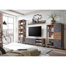 IMV Wohnwand Detroit, braun und schwarz