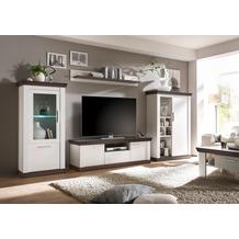 IMV Wohnwand Siena, weiß 357 x 45 x 170cm