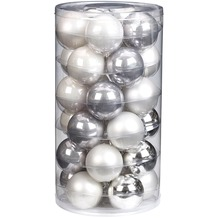 Inge Glas Kugel, Glas, 6 cm, 30 Stk. Elegant Whites
