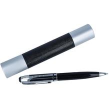 Inspirion Qualitäts-Kugelschreiber 16 cm schwarz silber