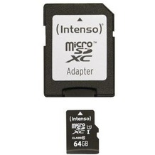 Intenso Micro SD Class 10 UHS-I, 64 GB