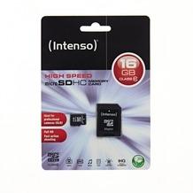 Intenso microSDHC Speicherkarte, Class10, 16 GB