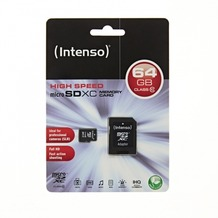 Intenso microSDHC Speicherkarte, Class10, 64 GB