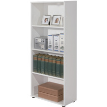 Inter Link Bücherregal 'Arco 3' 4 Fächer weiss
