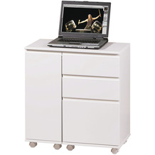 Inter Link Laptop Office' weiss 3 Schubl/1 Tür rollbar