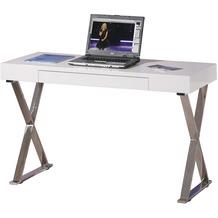 Inter Link Schreibtisch 'Grace' Weiß/Chrom