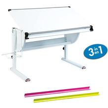 Inter Link Schreibtisch 'Matts 3 in 1'weiß/grün/pink TÜV