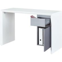 Inter Link Schreibtisch 'Megara' HG weiss/grau PVC