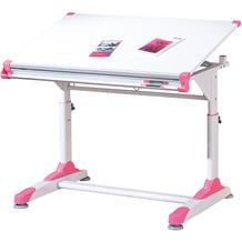 Inter Link Schüler-Schreibtisch '2Colorido' weiss/Pink-Grün