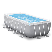 Intex PrismFrameRectangular Pool-Set inkl. GS Filterpumpe und Sicherheitsleiter, 400x200x122cm