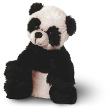 inware Plüschtier Panda sitzend 17 cm Schwarz, weis