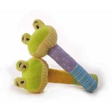 inware Stabrassel Frosch 15 cm grün, gelb, lila