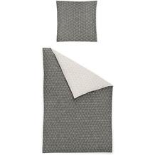 irisette biber feel 8122 grau Bettwäsche 135x200 cm, 1 x Kissenbezug 80x80 cm