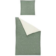 irisette biber feel 8122 grün Bettwäsche 135x200 cm, 1 x Kissenbezug 80x80 cm