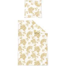 irisette biber feel 8206 gold Bettwäsche 135x200 cm, 1 x Kissenbezug 80x80 cm