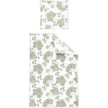 irisette biber feel 8206 grün Bettwäsche 135x200 cm, 1 x Kissenbezug 80x80 cm