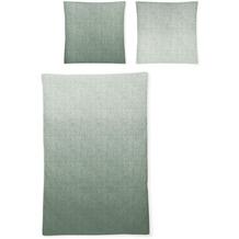 irisette biber feel 8212 grün Bettwäsche 135x200 cm, 1 x Kissenbezug 80x80 cm