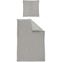 irisette biber feel 8236 grau Bettwäsche 135x200 cm, 1 x Kissenbezug 80x80 cm