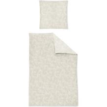 irisette biber feel 8236 silber Bettwäsche 135x200 cm, 1 x Kissenbezug 80x80 cm