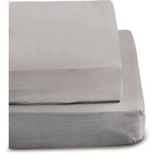 irisette biber merkur 0006 hellgrau Spannbetttuch 100x200 cm