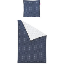 irisette Mako-Satin Bettwäsche Corado 8931 Blau 135 x 200