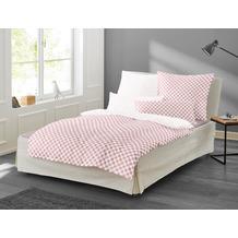 irisette Mako-Satin Bettwäsche Set Bea 8254 rosa 135x200 cm, 1 x Kissenbezug 80x80 cm