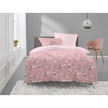 irisette Mako-Satin Bettwäsche Set Elba-K 8278 rosa 135x200 cm, 1 x Kissenbezug 80x80 cm