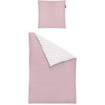 irisette Mako-Satin corado 8991 rosa Bettwäsche 135x200 cm, 1 x Kissenbezug 80x80 cm