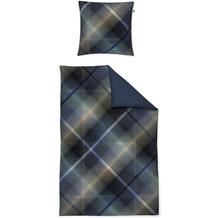 irisette Mako-Satin juwel-k 8818 blau Bettwäsche 135x200 cm, 1 x Kissenbezug 80x80 cm