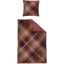 irisette Mako-Satin juwel-k 8818 rot Bettwäsche 135x200 cm, 1 x Kissenbezug 80x80 cm