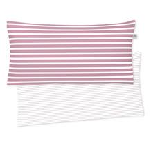 irisette Mako-Satin Kissenbezug Nora-Ki 8255 rosa 40x80 cm, 1 x Kissenbezug 40x80 cm