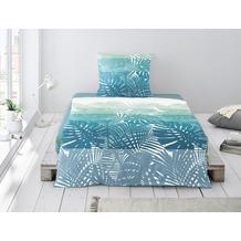 irisette SEERSUCKER BETTWÄSCHE CALYPSO 8076  blue 135 x 200 cm