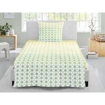 irisette seersucker calypso 8165 limone Bettwäsche 135x200 cm, 1 x Kissenbezug 80x80 cm