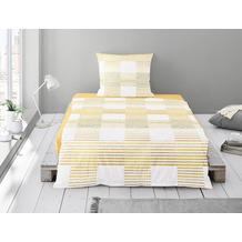 irisette seersucker calypso 8168 gelb Bettwäsche 135x200 cm, 1 x Kissenbezug 80x80 cm