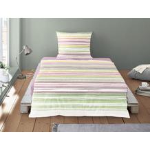 irisette Soft-Seersucker Bettwäsche Set Calypso 8243 multi 135x200 cm, 1 x Kissenbezug 80x80 cm