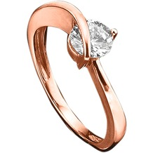 Jacques Lemans Ring 375/- Rotgold mit Zirkonia weiß rosa 6049 54 (17,2)