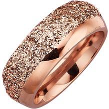 Jacques Lemans Ring Edelstahl PVD rotvergoldet  10441 54 (17,2)