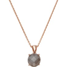 Jamelli Anhänger mit Kette 925/- Sterling Silber Mondstein grau rosa 9681