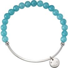 Jamelli Armband 925/- Sterling Silber Achat blau Silbergrau 10741