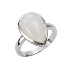 Jamelli Ring 925/- Sterling Silber rhodiniert mit Rainbow-Mondstein weiß 14633 52 (16,6)