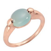 Jamelli Ring 925/- Sterling Silber rosévergoldet mit Chalcedon rosa 14651 52 (16,6)